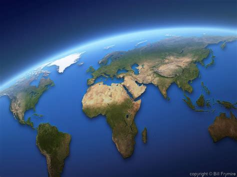 realistic world map