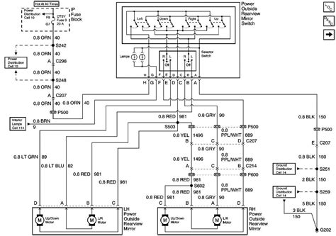 1999 tahoe power mirror wiring diagram gm forum buick