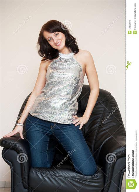 girls armchair girl in armchair stock photos image 12976833