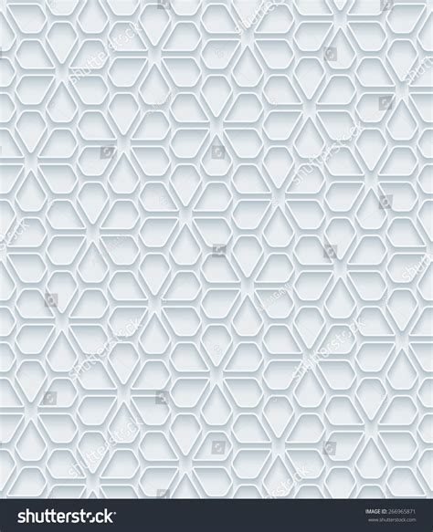 white pattern outline white paper outline extrude effect abstract stock vector