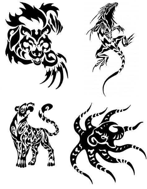 tribal pattern animals tribal animal designs clipart best