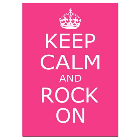 Keep Calm Rock On Oceanseven keep calm and rock on 5x7 inspirational quote print choose