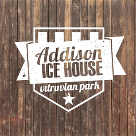 addison ice house addison ice house logo on behance