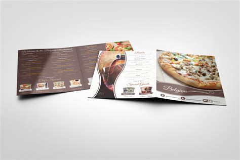 menu design mockup restaurant menu mock ups graphicriver