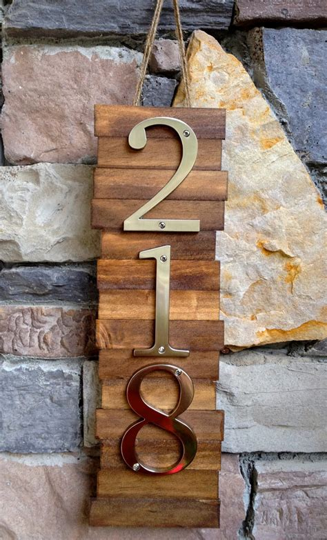 house number designs unique hanging house number plates with reclaimed wooden pallet base ideas