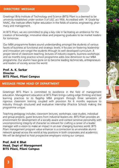 Iisc Bangalore Mba Fees Structure by Department Of Management Bits Pilani Admissions
