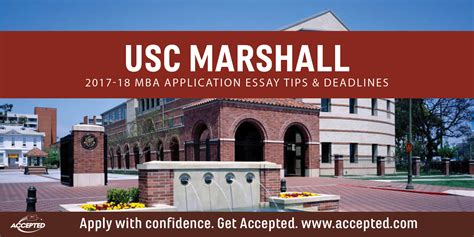 Usc Executive Mba Schedule by Usc Marshall Mba Application Essay Tips Deadlines Accepted
