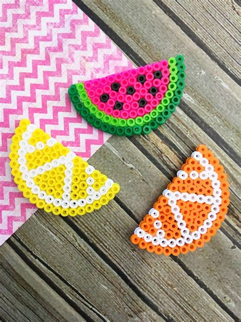 how to make things out of perler fruit perler bead magnets frugal eh