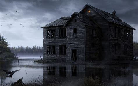 fonds decran halloween maisons hantees