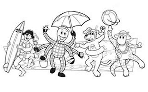 Wiggles World Fun For The Whole Family Dreamworld Dorothy The Dinosaur Colouring Pages