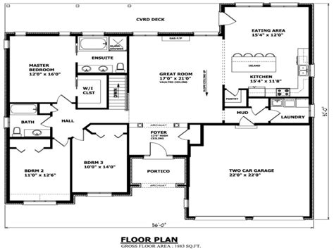 House Plans Ontario by Bungalow House Floor Plans Small Bungalow House Plans