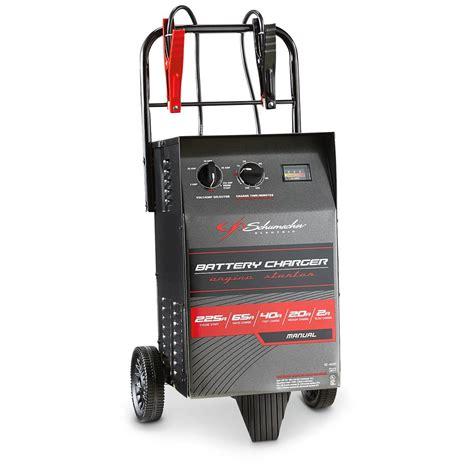 schumacher battery charger reviews schumacher 225 wheeled electric battery charger se