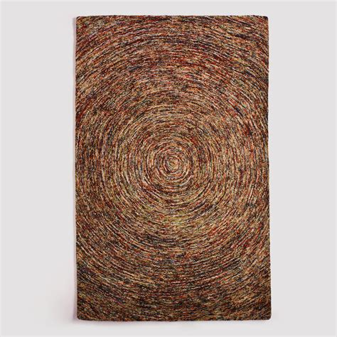 wool rug multicolor swirl hooked wool rug world market