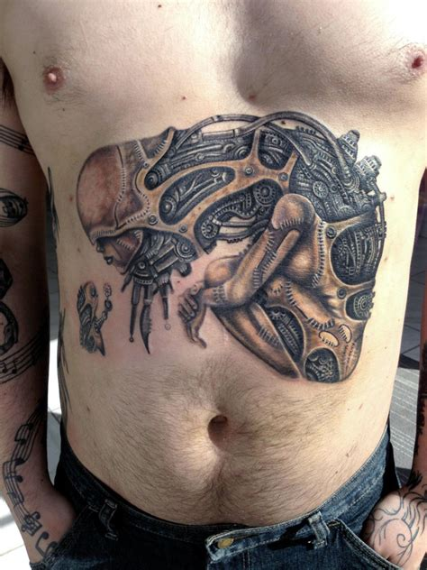 biomechanical tattoo montreal biomechanical toy tattoo done by abby at tattoo abyss