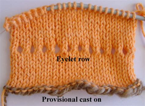 picot hem knitting picot hem