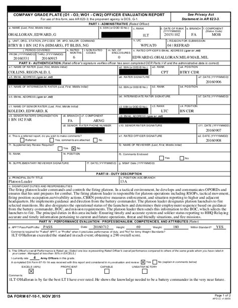 Officer Evaluation Form 20160908 Officer Performance Evaluation Template