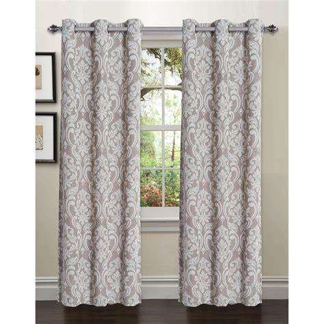 Curtain L 4 window elements semi opaque elinor linen blend jacquard 96 in l grommet curtain panel pair