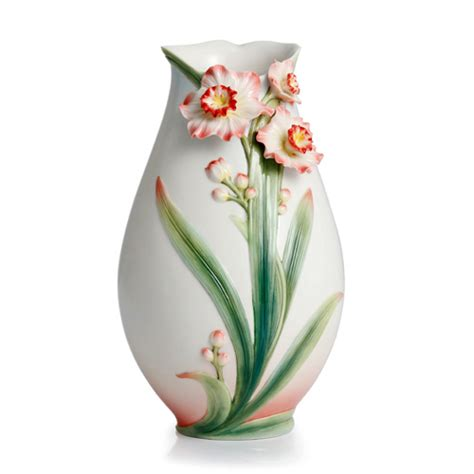 franz porcelain vase franz porcelain collection daffodil design sculptured