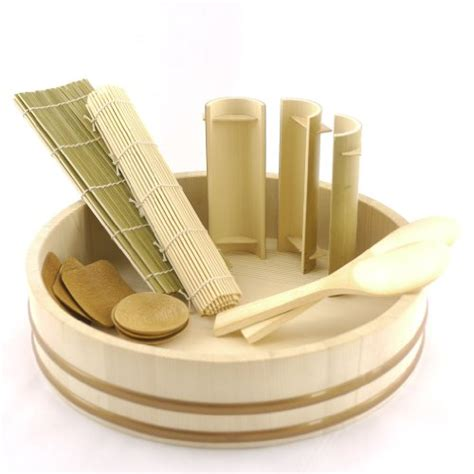 sushi making kit bed bath and beyond bambooimportsmn 12 quot sushi oke tub hangiri with 13pc