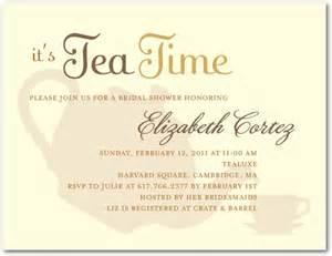 high tea signature white bridal shower invitations umbrella yogurt neutral front