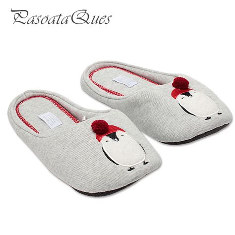 pattern for house slippers cotton cute penguin animal pattern home slippers women