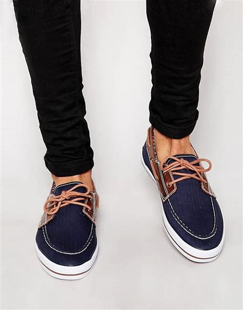 boat shoes asos asos asos boat shoes in canvas