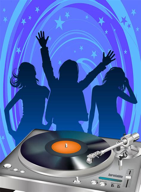 disco template disco poster template vector graphics