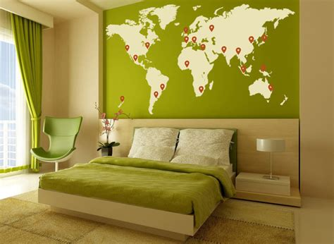 beautiful wall stickers for room interior design living room world map interior wall art stickers design