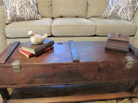 repurposed vintage ammo box coffee table my repurposed life 174