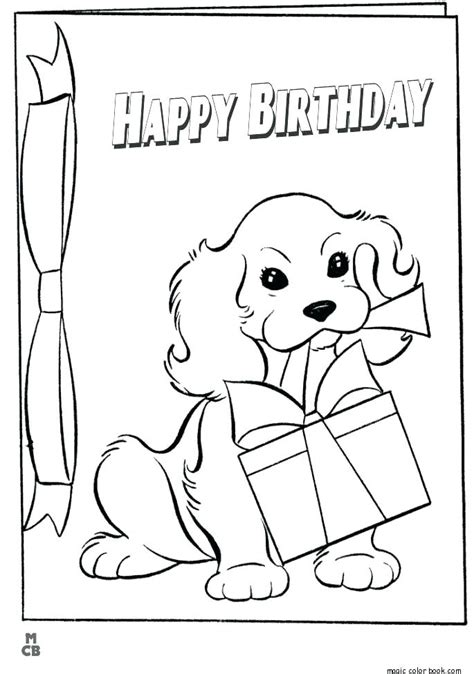 Coloring Birthday Cards For