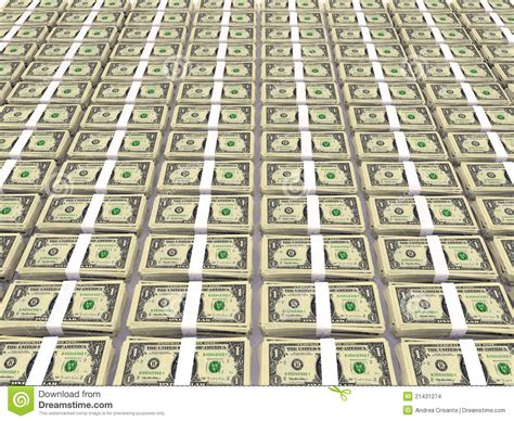 dollar floor dollar stack on floor stock images image 21431274