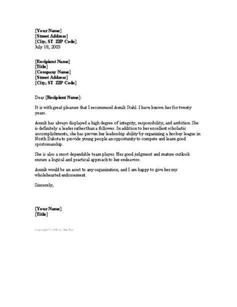 letter of character recommendation template 10 best letters images on reference letter