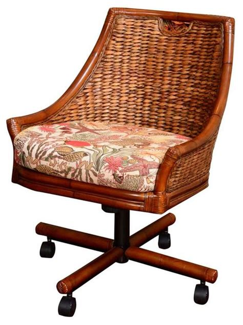 swivel dining chair kanvastex meadow tropical dining