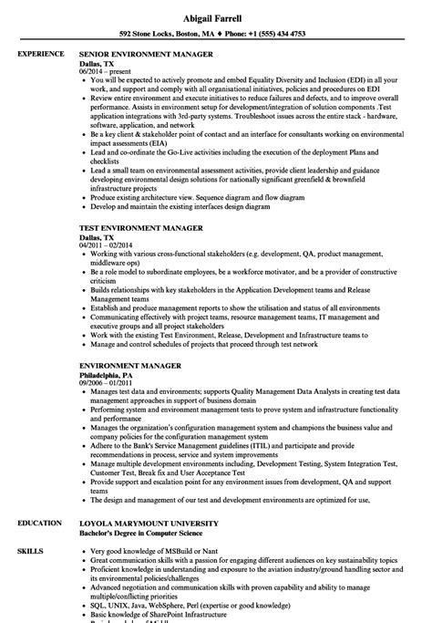 Exelent Environmental Science And Management Resume
