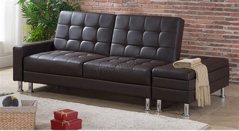 3 seater sofa with ottoman foxhunter pu sofa bed with storage 3 seater guest sleeper