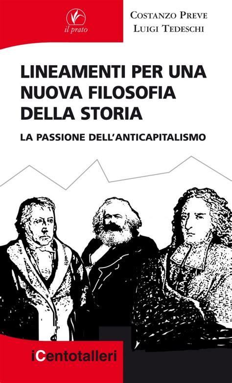 libro per una filosofia della lineamenti per una nuova filosofia della storia la