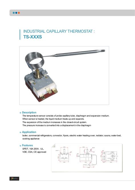 capillary thermostats