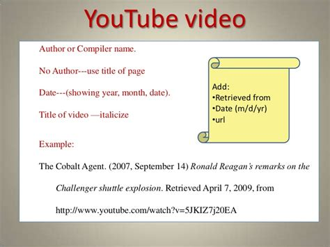 apa style format youtube video a practical guide to apa style