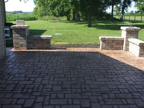 sted concrete patio for the home
