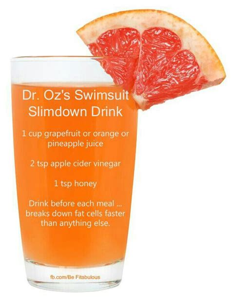 Dr Oz Detox Water When To Drink by Dr Oz Swimsuit Slimdown Drink Put In