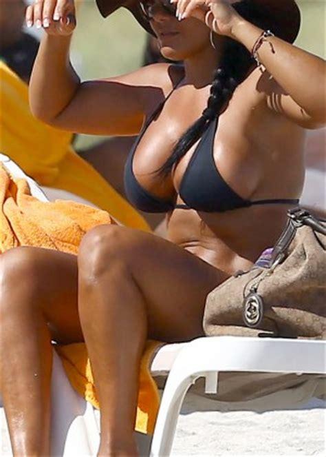 maripily rivera in a bikini on the beach in miami