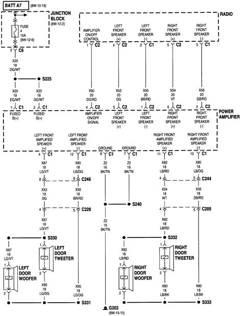 radio wiring diagram for 1998 dodge dakota 42 wiring