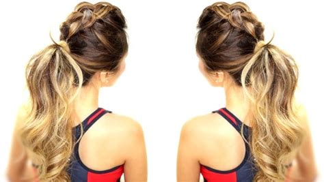 half up half down hairstyle dailymotion 3 workout everyday hairstyles braids messy bun ponytail