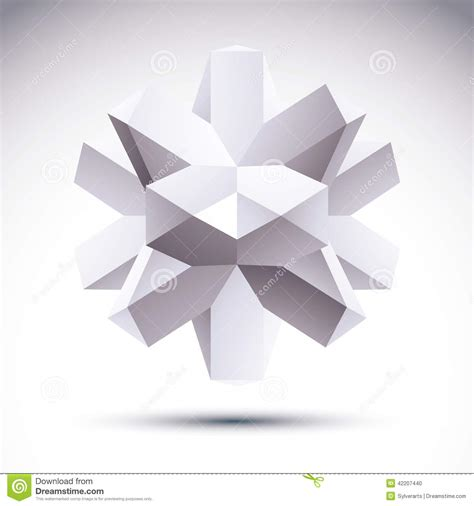 abstract geometric design elements vector 3d polygonal geometric object vector abstract design