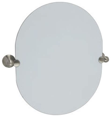 oval pivot bathroom mirror allante oval pivot mirror satin nickel modern bathroom mirrors by builderdepot inc