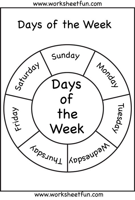 printable english worksheets days of the week days of the week printable worksheets pinterest
