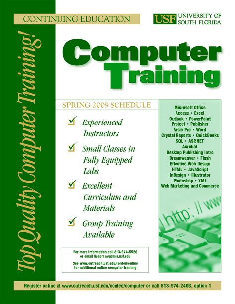 9 Best Images of Training Flyer Template   Computer