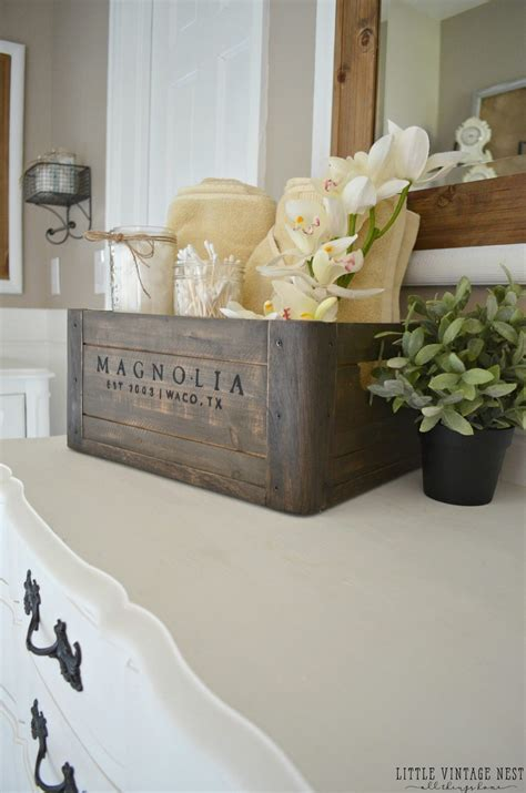 bathroom countertop decorating ideas 5 ways to style a wooden crate vintage nest