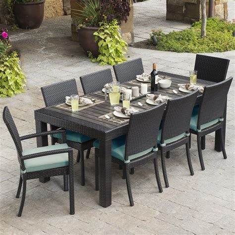Shop Rst Brands Deco 9 Piece Espresso Composite Material Patio Dining Sets