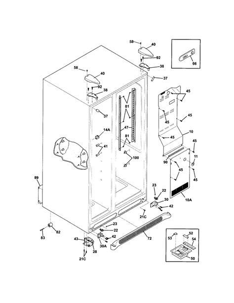 frigidaire gallery refrigerator parts diagram frigidaire parts diagrams frigidaire free engine image